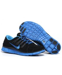 wholesale dealer f23dd be7cf Nike Free Anti-Fur Black Royalblue Womens Running Shoes Black with shades  of sky blue, people seem very sense of the atmosphere, my very favorite, ...