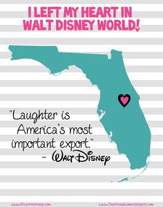 "Free ""I left my heart in Disney World"" art print-able! 
