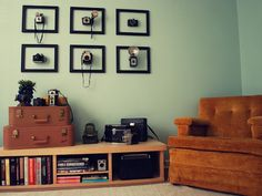 Camera in frame...absolutely love this idea for wall decor, inspiration