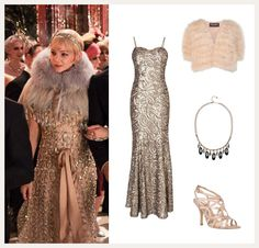 These stills from the Great Gatsby film give you a better idea. Description from phase-eight.com. I searched for this on bing.com/images
