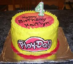 Homemade Play Doh Birthday Cake: My daughter loves play-doh, so I really wanted a play-doh theme for her birthday but couldn't find any cakes to match that theme so I thought of this Homemade