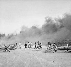 Surabaya di Bombardir Tentara Sekutu dari segala penjuru, hal tersebut terjadi setelah Jendral Mallaby Tewas
