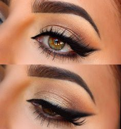 Beautiful make up for hazel eyes