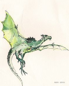 "Wyvern illustration from ""Dragonology""."