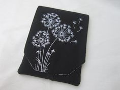 Kindle Paperwhite cover with machine embroidery fits kindle original, kindle 4, kindle paperwhite 3g, kobo touch
