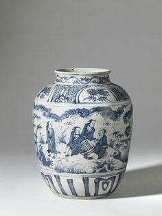 Vase en porcelaine bleu et blanc - Chine, dynastie Ming, XVIe siècle.