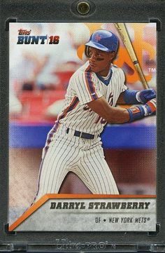 2016 Topps Bunt Baseball 1/1 Blank Back. Darryl Strawberry METS