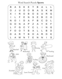 WORD SEARCH PUZZLE SPORTS
