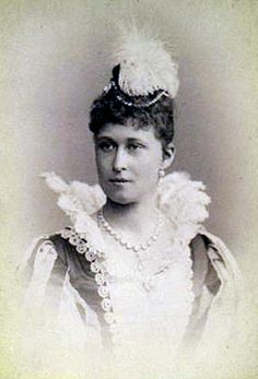 Grandchild of Queen Victoria - Princess Irene of Hesse and by Rhine (1866 – 1953) was the third child  third daughter of Princess Alice of the United Kingdom  Ludwig IV, Grand Duke of Hesse and by Rhine. She was the wife of Prince Albert Wilhelm Heinrich of Prussia, her first cousin. Like her sister Alix, Irene was a carrier of the haemophilia gene
