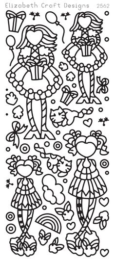 Little Cuties 2 (sku 2562) from ElizabethCraftDesigns.com