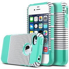 iPhone 4S Case,ULAK Dual Layer Hybrid Shock Absorbing Protective Hard Case Cover for Apple iPhone 4 4S(Minimal Mint Stripes) ULAK http://www.amazon.co.uk/dp/B018E9I9EW/ref=cm_sw_r_pi_dp_7Lbwwb0XE2V3B