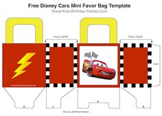 Free Disney Cars Birthday Party printables, party game and food ideas.