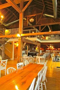 The barn at harvest moon pond. View of main floor and loft.