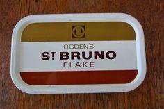 tobacco tin, loose tobacco tin, vintage tin, 1960s tobacco tin, gift for him, retro tin, Ogden's, st Bruno flake tobacco tin, container box by thevintagemagpie01 on Etsy