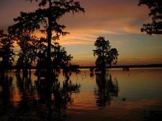 bayou sunrise in louisiana