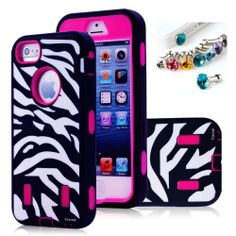 Cocoz® Deluxe Printed Hard Soft High Impact Hybrid Case Combo for Apple Iphone 5 , (Iphone 5, Zebra Hot Pink)--0001 Sale - http://mydailypromo.com/cocoz-deluxe-printed-hard-soft-high-impact-hybrid-case-combo-for-apple-iphone-5-iphone-5-zebra-hot-pink-0001-sale.html