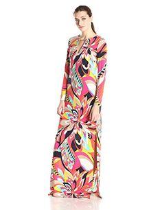Trina Turk Womens Nalana Fleur De Cap Matte Jersey Maxi Dress