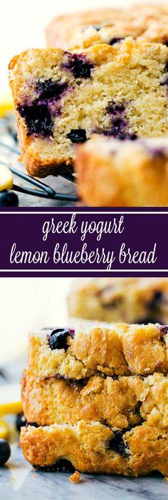 A healthier lemon-blueberry GREEK YOGURT sweet bread. Better ingredients, NO sacrifice of taste!