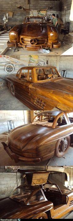 Woah... Wooden Mercedes