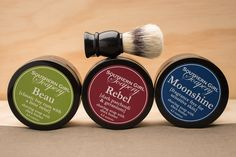 Small-Batch Shaving Soaps    $40.00 www.bourbanandboots.com  (1-soap and Boar brush