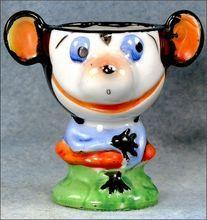 Porcelain Minnie Mouse Egg Cup, c.1930