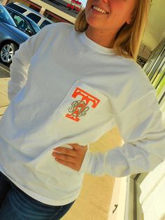 Monogrammed Tennessee Vols Long Sleeve T-shirt w/ by MONOGRAMSINC