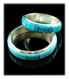 Inlay Sleeping Beauty Turquoise Band Ring