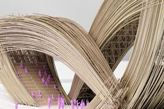 This sculptural bamboo entrance designed for a Chinese flower garden was the first-ever project by architecture studio Penda,