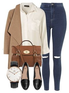 """""""Untitled #4871"""" by laurenmboot ❤ liked on Polyvore featuring Topshop, Harris Wharf London, Mulberry, H&M and Daniel Wellington"""