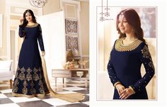 Afreen Colour Plus Aarav Trendz ANARKALI SUITS EMBROIDERED COLORFUL BEAUTIFUL OCCASIONAL WEAR & PARTY WEAR GEORGETTE DRESSES AT WHOLESALE PRICE AT INDIANSTYLESHOP.COM