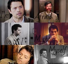 """I'm afraid I might kill myself""  - Castiel>>>>Oh what my heart? No it's fine u can just take it and smash it to pieces."