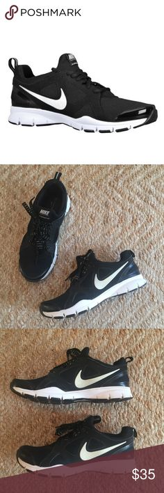 Nike In Season TR 2 Pre-loved but still very good condition. The most comfy insole with memory foam. Very lightweight. Flex grooves help foot move naturally. Awesome shoe! Black, white, and silver. Laces have silver threading. Nike Shoes Athletic Shoes