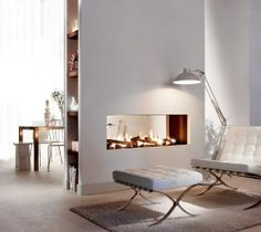 double sided fireplaces | Double-sided fireplaces