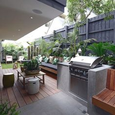 Do you have a small backyard? Many people do. Having a small backyard is not an excuse not to design it, though. On the contrary, a small backyard can look great with proper small backyard landscaping. Outdoor Areas, Outdoor Rooms, Outdoor Living, Outdoor Decor, Outdoor Decking, Outdoor Kitchens, Outdoor Tiles, Deck Patio, Small Backyard Landscaping
