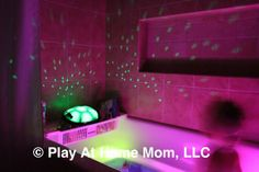 Glow sticks.... thinking outside the box | Activities For Children | Adventures in the Dark, Bath Time Fun, Rainy Day Play | Play At Home Mom