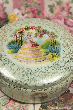 - Beautiful Crinoline Lady Cake Tin.