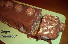 o sokolatenios kormos tou presvi me mono 4 ylika Greek Sweets, Greek Desserts, Trifle Desserts, Party Desserts, Summer Desserts, Dessert Recipes, Greek Cookies, Death By Chocolate, Sweets Cake
