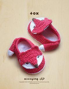 Patrón Crochet Patrón Fox bebé botines Fox Preemie por meinuxing