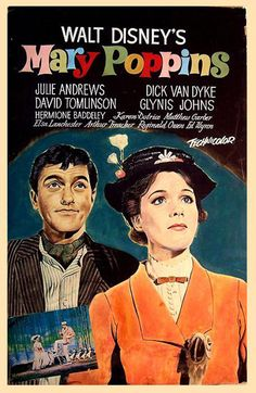Mary Poppins, 1964.    I really loved this movie ,Julie Andrews voice,Dick Van Dyke's dancing , I still enjoy watching w my granddaughter.