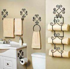 Iron Bathroom Set pc Scroll Bath Set Hand Forged Wrought Iron in 2019 Bathroom Sets, Small Bathroom, Bathroom Modern, Wrought Iron Decor, Iron Furniture, Bathroom Collections, Iron Wall, Bath Decor, Accent Decor