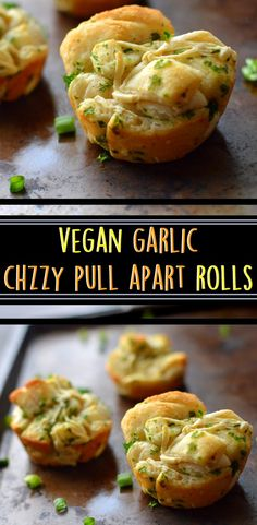 Vegan Garlic Cheesy Pull-Apart Rolls - Party & Holiday Appetizer - Rich Bitch Cooking Blog