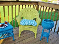 Painted Wicker Furniture 9