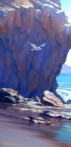 Original California Plein Air Landscape Painting in oil by Elena Roche Art Painting, Landscape Paintings, Art Photography, Oil Painting Landscape, Painting, Oil Painting, Seascape Paintings, Landscape Art, Beautiful Art