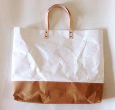 The two-tone Kraft paper bag by Belltastudio #kraft #reused #recycled #design #bags US$58.50