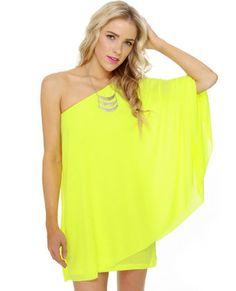 Adore this fabulous pop of NEON yellow!