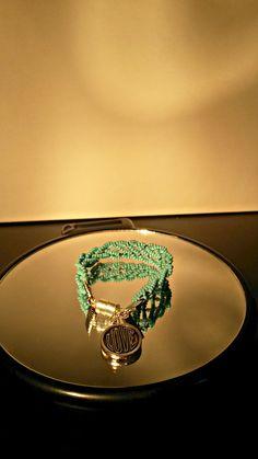 Turquoise 6 strand kumihimo braided bracelet