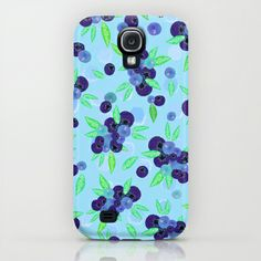 Blueberries Samsung Galaxy S4 case by Lisa Argyropoulos