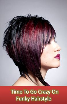 Check Out 20 Best Funky Short Hair. The color is used to increase your personality, complement your hair cut and making it unique to you. Get inspired with dramatic and daring 20 Best Funky Short Hair. Funky Short Hair, Short Hair Cuts, Funky Bob, Edgy Bob, Pixie Cuts, Short Pixie, Bob Hairstyles, Straight Hairstyles, Bob Haircuts