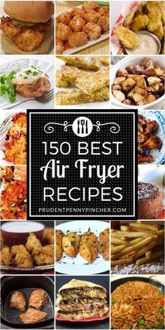 That is the ULTIMATE assortment of one of the best air fryer recipes. There are over 100 air fryer recipes for breakfast, lunch, dinner, snacks, appet Air Fryer Oven Recipes, Air Frier Recipes, Air Fryer Dinner Recipes, Air Fryer Recipes Chicken Wings, Recipes Dinner, Power Air Fryer Recipes, Power Airfryer Xl Recipes, Air Fryer Recipes Appetizers, Airfryer Breakfast Recipes