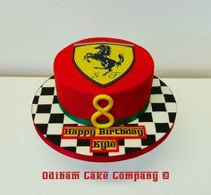 OCC - Sponge cake decorated in a Ferrari theme. #cake #ferrari